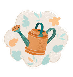Watering can isolated on vector
