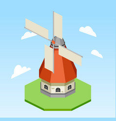 Windmill isometric vector