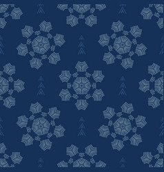Winter snowflakes texture seamless pattern vector
