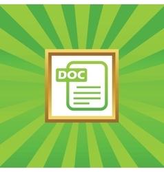 DOC file picture icon vector image vector image