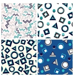flat geometric shapes in seamless pattern vector image