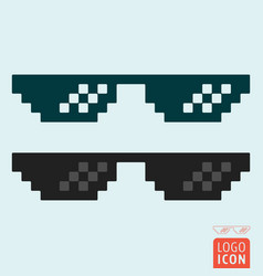 glasses icon isolated vector image