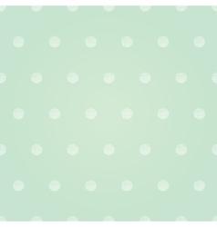 Vintage Mint Green Polka Dots Circles vector image