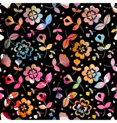 Watercolour floral seamless pattern vector
