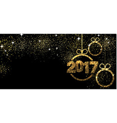 2017 banner with Christmas balls vector image vector image