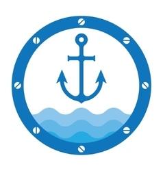 anchor porthole vector image