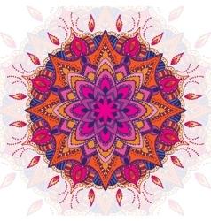 Beautiful colored mandala ornament Vintage vector image