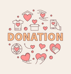 donation modern colored round vector image