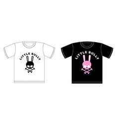 Emblem of Little hooligans T-shirt design Cute vector image