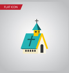 isolated religious flat icon architecture vector image