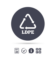ld-pe sign icon low-density polyethylene vector image