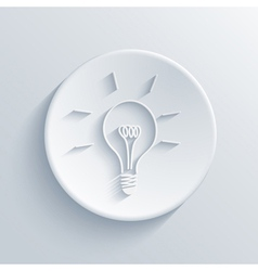 light circle icon vector image vector image