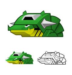 Robot Slug vector image vector image