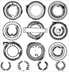 abstract grunge rubber stamps vector image