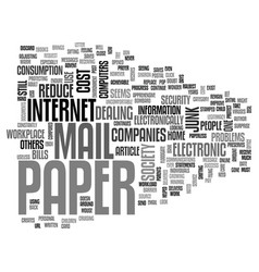 Are we a paper society text word cloud concept vector