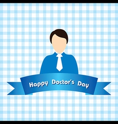 Creative National Doctors Day Greeting vector image vector image