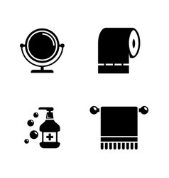hygiene fight simple related icons vector image vector image
