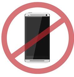 No smartphone vector image