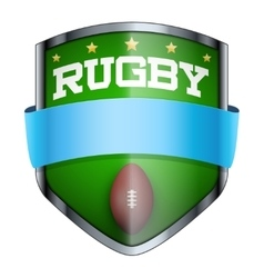Rugby Shield badge vector image