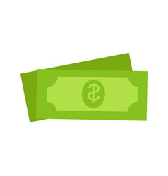 two green dollars united states money icon set vector image