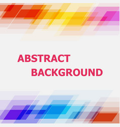 abstract geometric overlapping colorful background vector image vector image