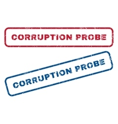 Corruption probe rubber stamps vector