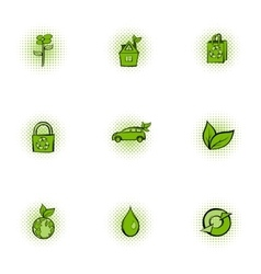 Environment icons set pop-art style vector image