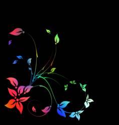 floral decorative pattern vector image