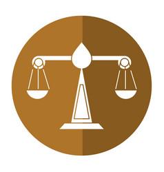 justice scale law symbol shadow vector image