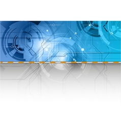 tech background in the blue color vector image vector image