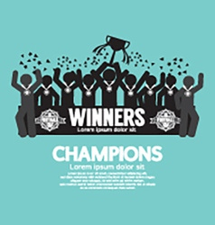 The Winner Cup Soccer or Football Champions vector image vector image