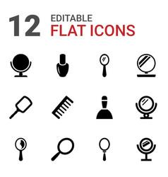 12 cosmetics icons vector