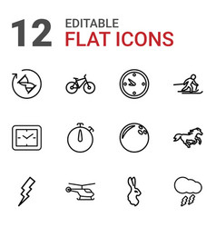 12 speed icons vector