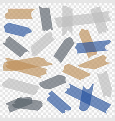 adhesive tape transparent paper scotch tapes vector image