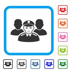 Army team framed positive icon vector
