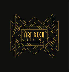 Art deco style logo luxury minimal geometric vector