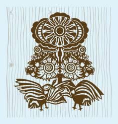 birds under sun vector image vector image
