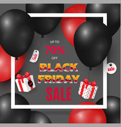 black friday poster with deals and new offers vector image