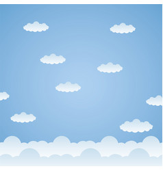 blue clouds sky background vector image