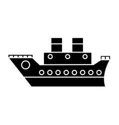 Boat cruise travel sea pictogram vector