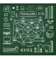 Business doodle concept vector image
