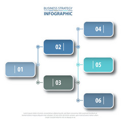 business infographics strategy chart analysis vector image