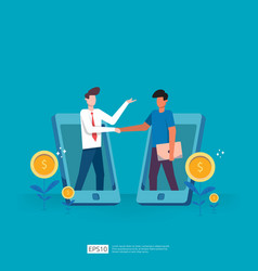 Business partnership deals and agreement vector