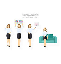 business woman character design set woman vector image