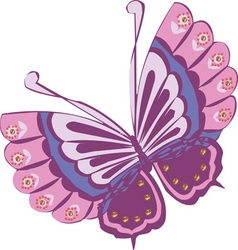Butterfly Cartoon Clipart Design vector image