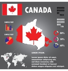 Canada Country Infographics Template vector image