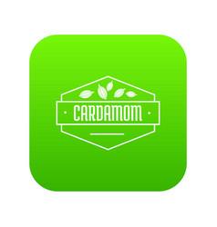 cardamom icon green vector image