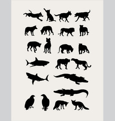 Carnivorous Silhouettes vector image