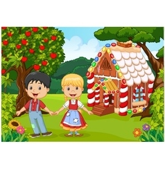 Classic children story Hansel and Gretel vector