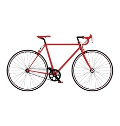 Classic town road singlespeed bicycle detailed vector image